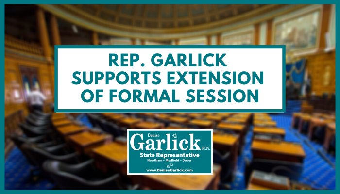Rep. Garlick Supports Extension of Formal Session