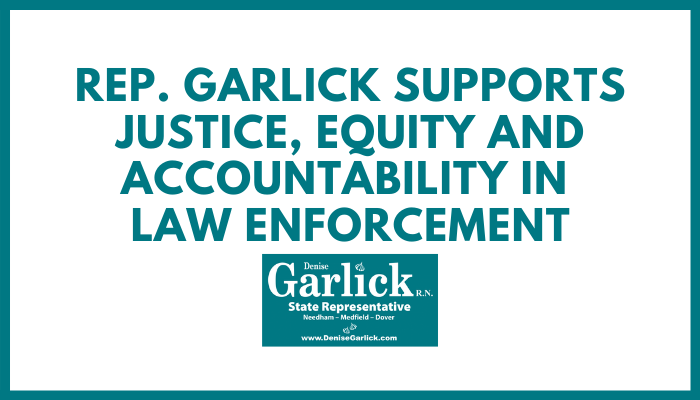 Rep. Garlick Supports Justice, Equity and Accountability in Law Enforcement