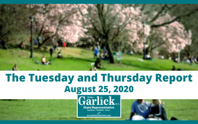 August 25, 2020, Tuesday and Thursday Report