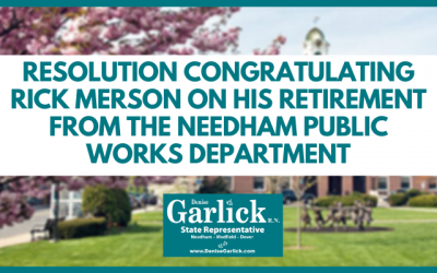 Resolution Congratulating Rick Merson On His Retirement From The Needham Public Works Department