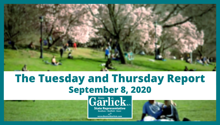 September 8, 2020, Tuesday and Thursday Report