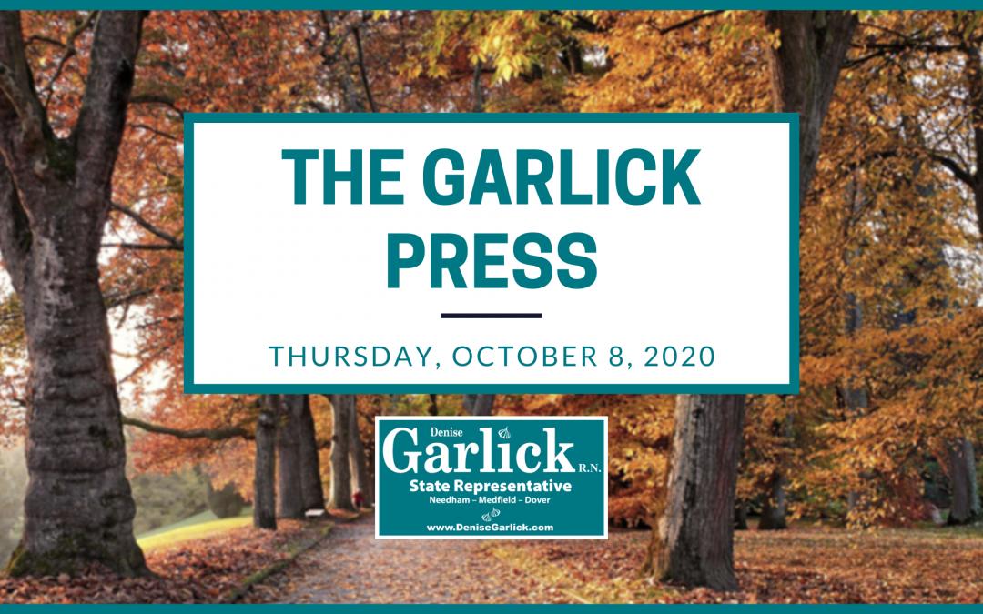 Garlick Press – Thursday, October 8, 2020
