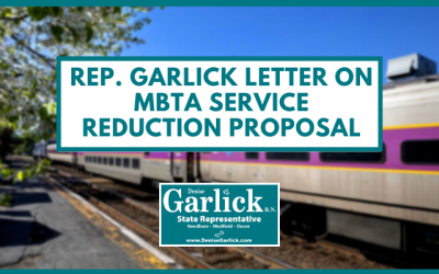 Rep. Garlick Letter on MBTA's Service Reduction Proposal