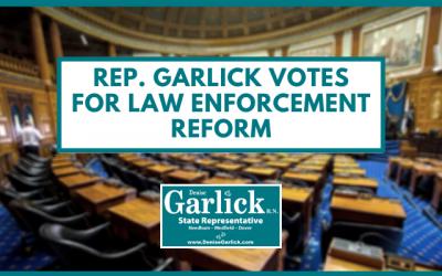 Rep. Garlick Supports Law Enforcement Reform, Sends Legislation to Governor's Desk