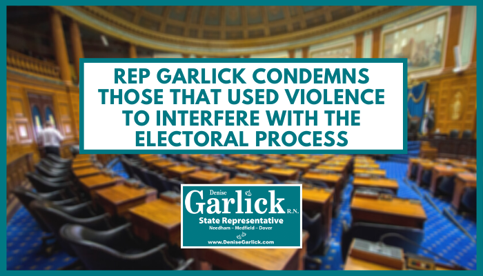 Rep Garlick Condemns Those That Used Violence to Interfere With The Electoral Process