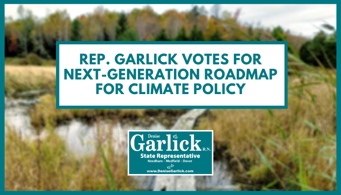 Rep. Garlick Votes for a Next-Generation Roadmap for Massachusetts Climate Policy