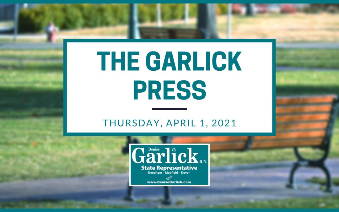 The Garlick Press – Thursday, April 1, 2021