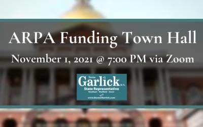 Rep Garlick's Virtual Town Hall on ARPA Funding
